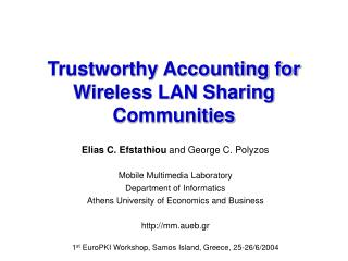 Trustworthy Accounting for Wireless LAN Sharing Communities