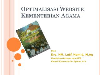 Optimalisasi  Website  Kementerian  Agama
