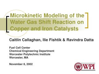 Microkinetic Modeling of the Water Gas Shift Reaction on Copper and Iron Catalysts