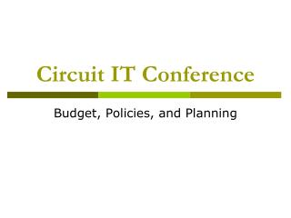Circuit IT Conference
