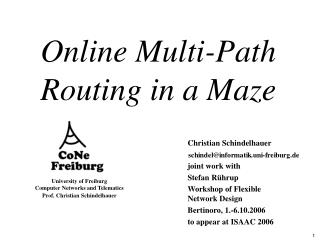 Online Multi-Path Routing in a Maze