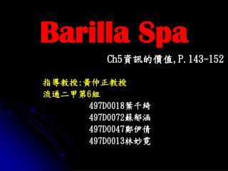 Barilla Spa