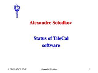 Alexandre Solodkov