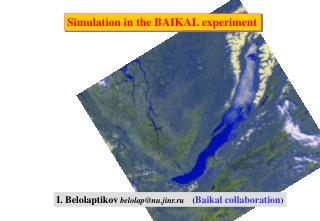 Simulation in the BAIKAL experiment