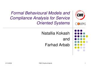 Formal Behavioural Models and Compliance Analysis for Service Oriented Systems