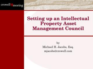 Setting up an Intellectual Property Asset Management Council