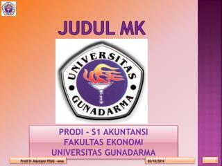 JUDUL MK