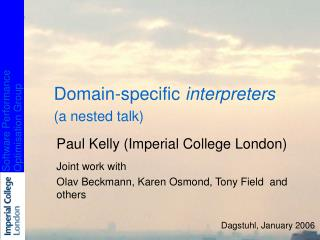 Domain-specific  interpreters (a nested talk)