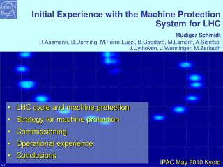 LHC cycle and machine protection Strategy for machine protection Commissioning