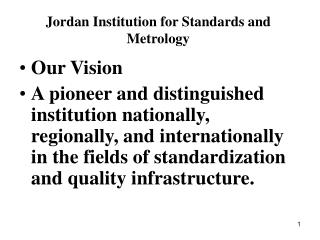 Jordan Institution for Standards and Metrology