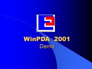 WinPDA  2001 Demo