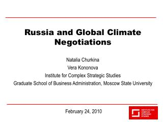 Russia and Global Climate Negotiations