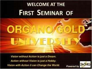 WELCOME AT THE FIRST  SEMINAR  OF