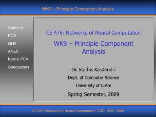 WK9 – Principle Component Analysis