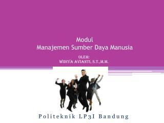 Modul  Manajemen Sumber Daya Manusia