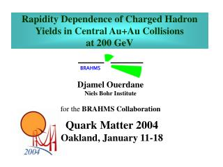 Rapidity Dependence of Charged Hadron Yields in Central Au+Au Collisions  at 200 GeV