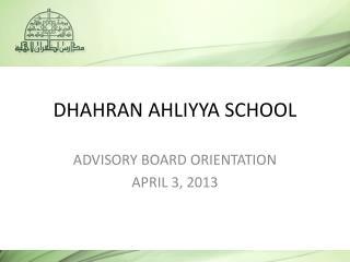 DHAHRAN AHLIYYA SCHOOL
