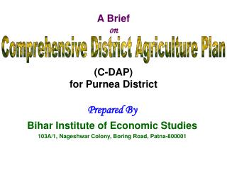 A Brief  on (C-DAP) for Purnea District