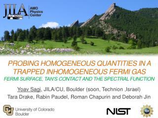 Yoav Sagi , JILA/CU, Boulder (soon ,  Technion ,Israel)