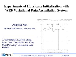 Experiments of Hurricane Initialization with WRF Variational Data Assimilation System