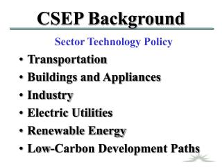 CSEP Background