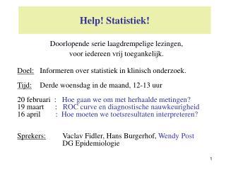 Help! Statistiek!