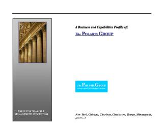 A Business and Capabilities Profile of: