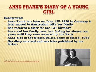 Anne frank's diary of a young girl
