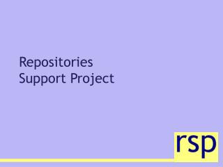 Repositories Support Project