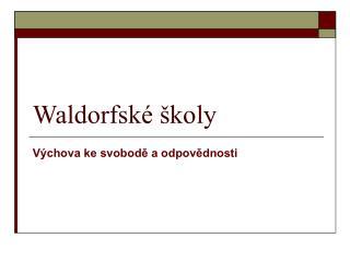 Waldorfské školy