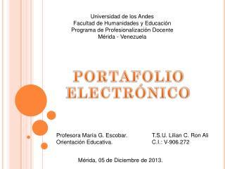 Universidad de los Andes Facultad de Humanidades y Educación