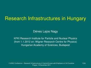 Research Infrastructures in Hungary