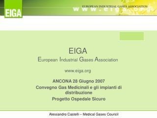 EIGA E uropean  I ndustrial  G ases  A ssociation eiga