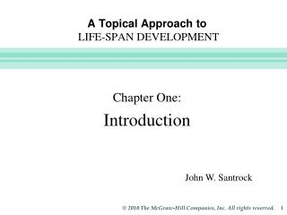 A Topical Approach to LIFE-SPAN DEVELOPMENT