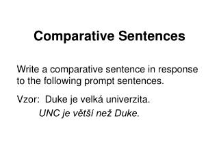 Comparative Sentences
