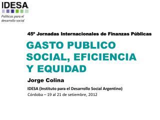 45º Jornadas Internacionales de Finanzas Públicas