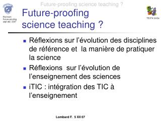 Future-proofing  science teaching ?