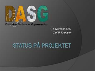 Status på projektet