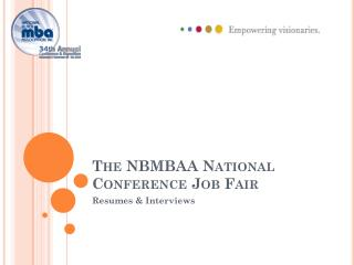 The NBMBAA National Conference Job Fair