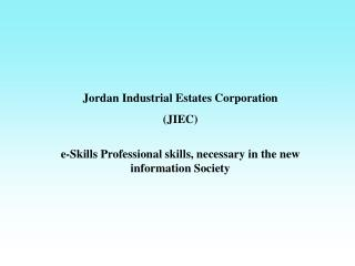 Jordan Industrial Estates Corporation (JIEC)