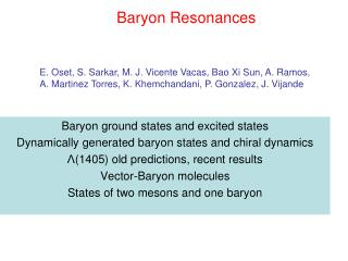 Baryon Resonances