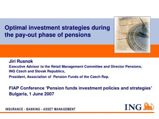 Optimal investment strategies during the pay-out phase of pensions