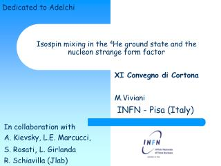 Isospin mixing in the  4 He ground state and the nucleon strange form factor