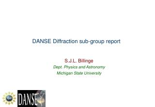DANSE Diffraction sub-group report