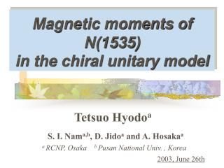 Magnetic moments of N(1535) in the chiral unitary model