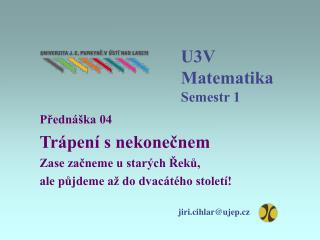 U3V Matematika Semestr 1