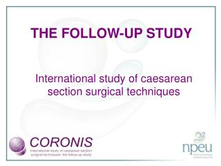 International study of caesarean section surgical techniques