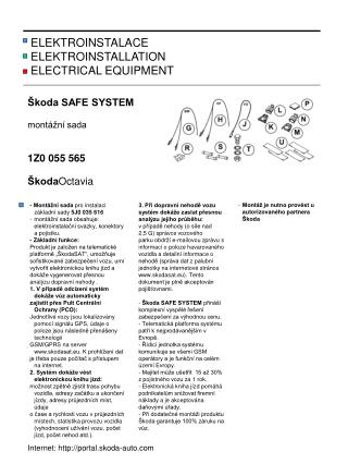 ELEKTROINSTALACE ELEKTROINSTALLATION            ELECTRICAL EQUIPMENT
