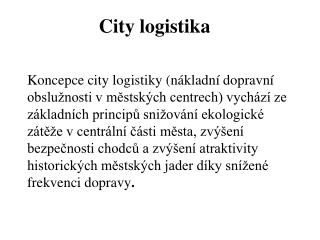 City logistika