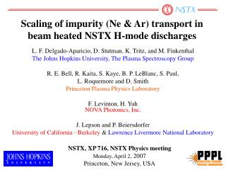 Scaling of impurity (Ne & Ar) transport in beam heated NSTX H-mode discharges